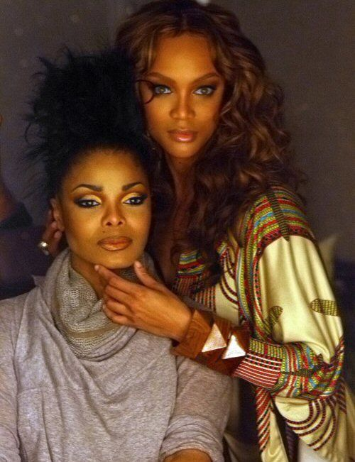 Janet Jackson, Tyra Banks the two best people in one picture together.