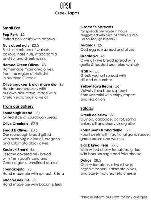 Opso Menu Menu For Opso Marylebone London Zomato Uk Sourdough Bread Tapas Walnuts