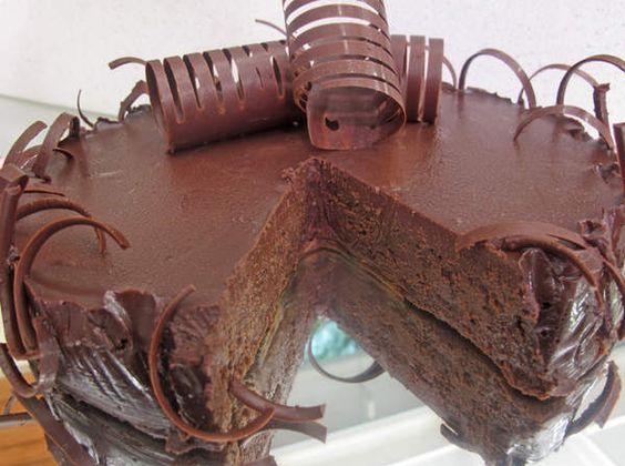 De Colher Pra Colher: Torta Musse de Chocolate