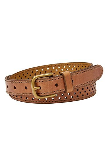 Fossil Perforated Leather Belt