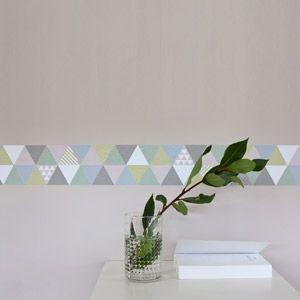 Frise adh sive murale triangle scandinave smart fifi - Bande adhesive murale ...