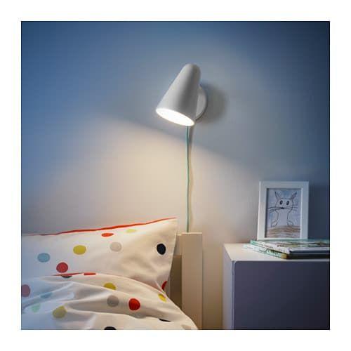 FUBBLA LED wall lamp white | Led wall lamp, Wall lamp, Lamp