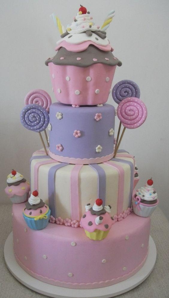 bolos de aniversário para meninas: