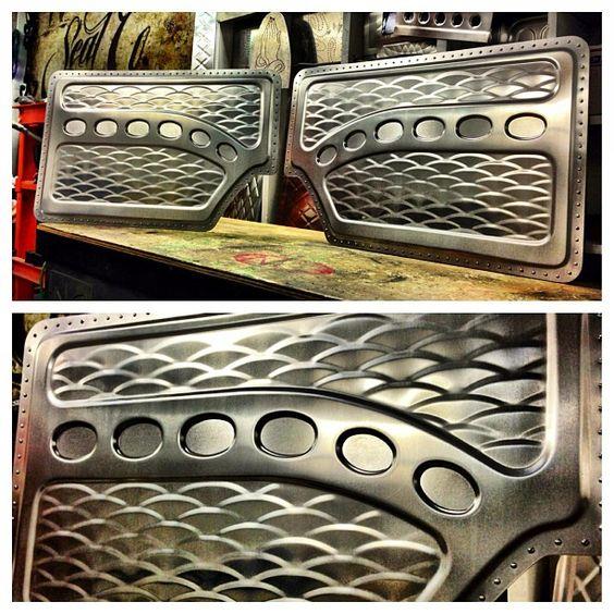 Custom interior. sheet metal aluminum art bead roll door panels console bead rolled work door card sheetmetal
