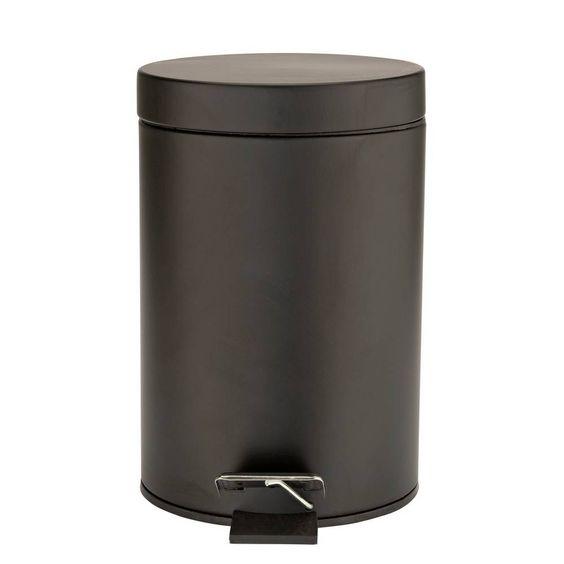Buy Argos Home 3 Litre Slow Close Bathroom Bin Matte Black Bathroom Bins Argos In 2020 Bathroom Bin Black Bathroom Bathroom Trash Can