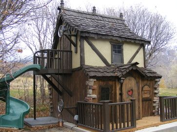 Bavarian Cottage Playhouse - traditional - outdoor playsets - salt lake city - Fancy Builder, Inc.