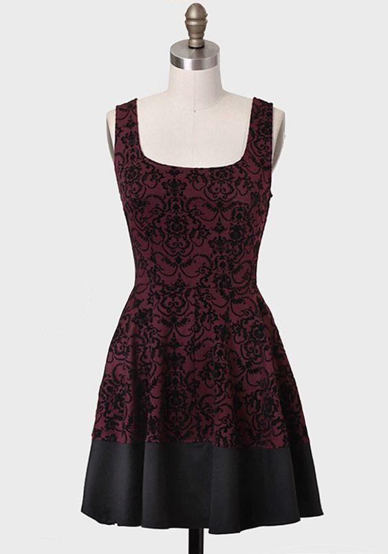 Nocturne Velvet Brocade Dress