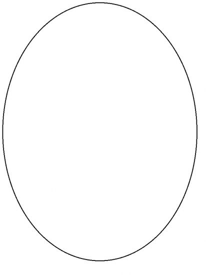 ... Draw an oval or print out an an oval pattern . Cut out the pattern