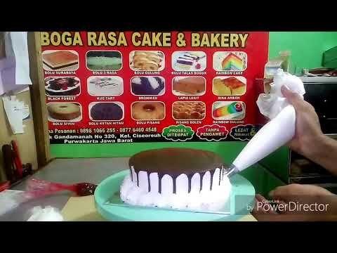 Menghias Kue Ultah Bulat Sederhana Lumer Coklat Youtube Butter Cream Cake Food