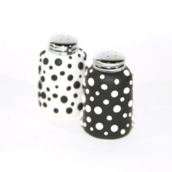 The question I always ask myself is... is the salt black with white dots or white with black dots...is the pepper black dots with white or white dots with black...    So...I just give up... and use both...