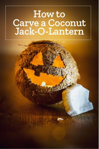 🥥🎃 Why not punt on the pumpkins and go with coconut jack-o-lanterns this year! #Halloween #jackolantern #coconut #diy #Caribbean #🎃 #🥥