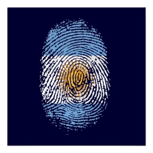 Argentina flag¶ finger print