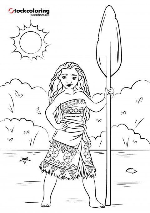 Princess Moana Moana Coloring Pages Princess Coloring Pages Moana Coloring
