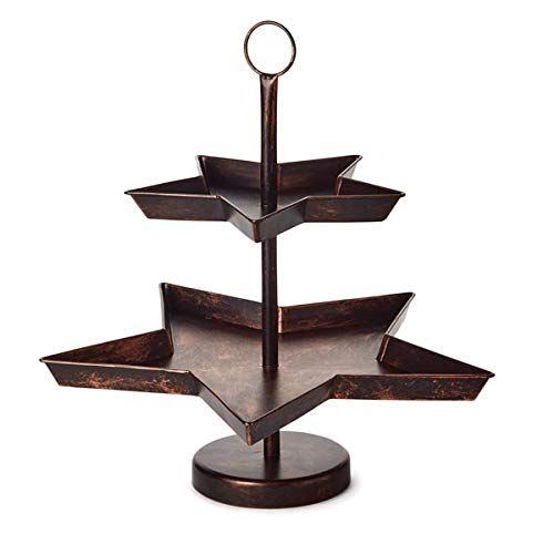 Amazon Com Hallmark 1xkt5451 Metal Star Two Tiered Serving Stand Gateway Tiered Serving Stand Serving Stand Metal Stars