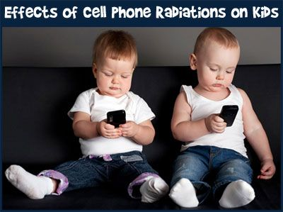 Read about the harmful effects of cell phone radiations on kids. #cellphone #childshealth #raisingkids #parentingtips