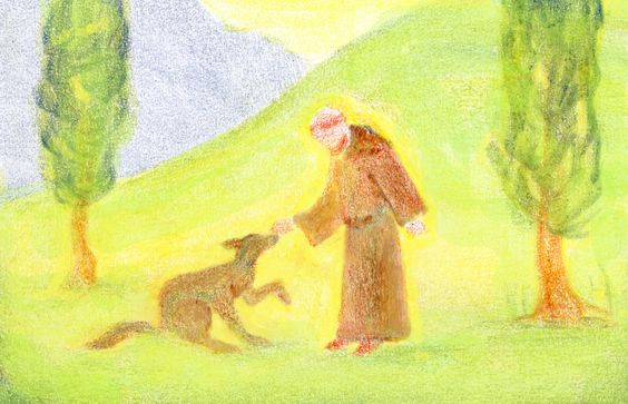 Age 08 ~ Saint Stories ~ Saint Francis and the Wolf ~ main lesson book