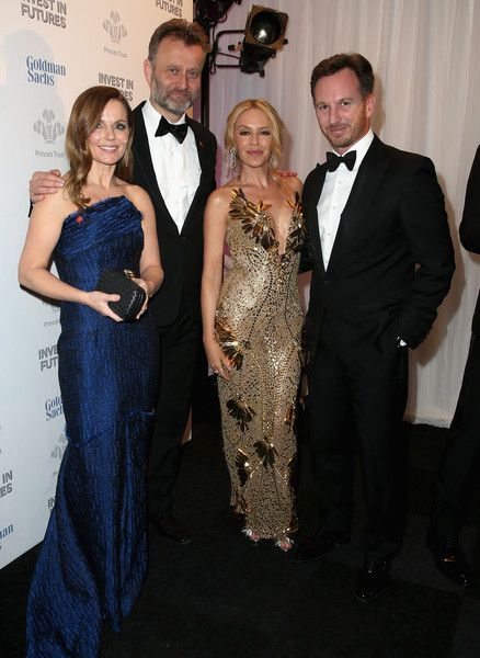 Kylie Minogue Photos Photos - (L-R) Geri Halliwell, Hugh Dennis, Kylie Minogue…