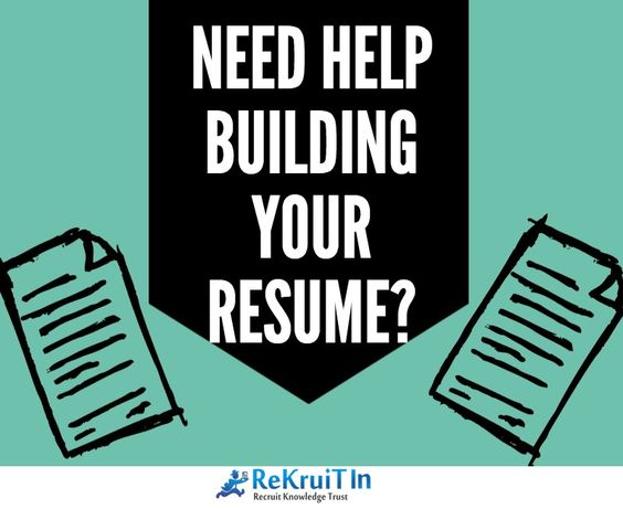 Perfect Need Help In Building Resume? ReKruiTIn Resume Experts Help In   Help  Building A Resume  Help Building A Resume