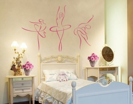wandtattoo ballerina. Black Bedroom Furniture Sets. Home Design Ideas
