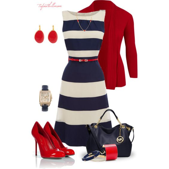 Graduation dress? Nautical Summer dress outfitnavy and white ...