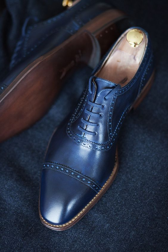 Blue Shoes for Men: