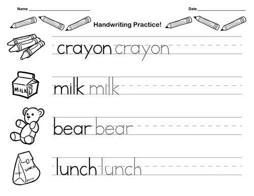Kindergarten Handwriting Worksheets Best Coloring Pages For Kids Handwriting Worksheets For Kindergarten Kindergarten Writing Paper Cursive Writing Practice Sheets