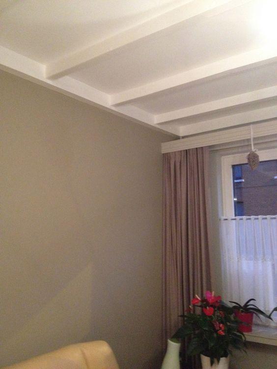 Houten plafond in lichte kleur aarde tinten weer een paar leuke voorbeelden pinterest - Verf een houten plafond ...