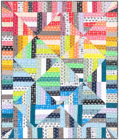 Free Pattern Diamond Stripes Quilt Designed By Karen Lewis Features Blueberry Park By Karen Lewis Shipping To Quilt Patterns Stripe Quilt Pattern Quilts