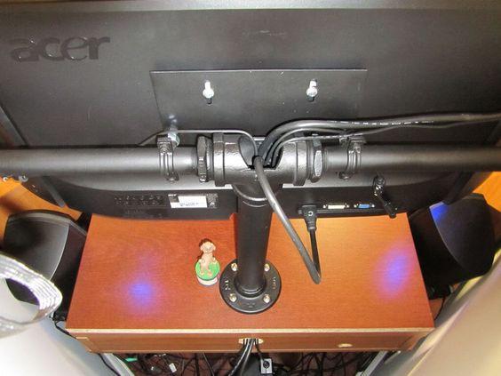 DIY triple monitor stand (my take on it) - [H]ard|Forum | DIY