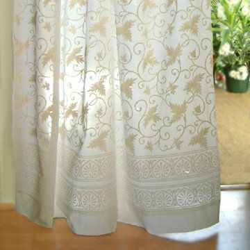 Amazon.com - Ivy Lace ~ White Country Cottage Cotton Curtain Panel ...