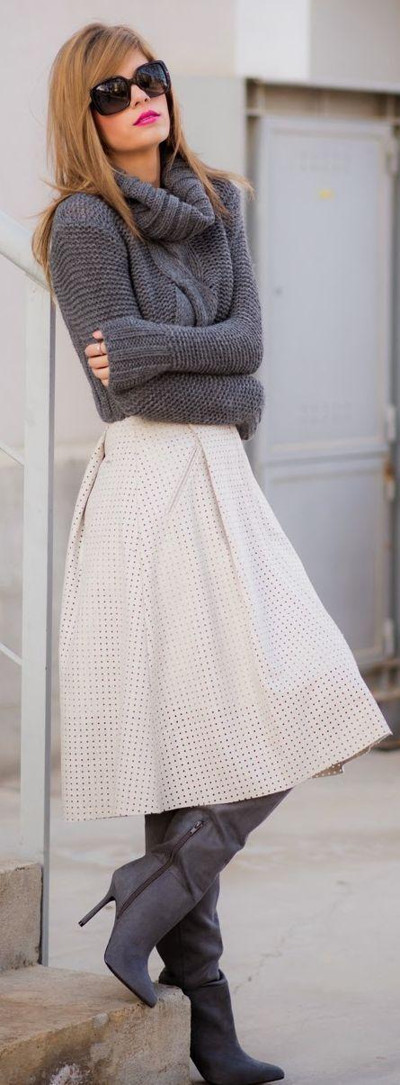 A saia midi é tendência neste inverno 2015 e no verão 2016: Confira no Moda que Rima.: