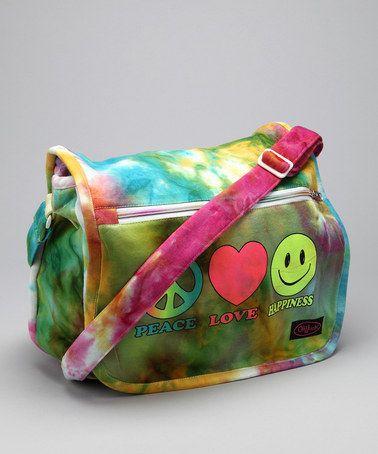 Green Tie-Dye Messenger Bag