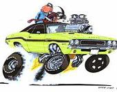 """1970 Challenger R/T """"Party R/T"""" by Vince Crain"""