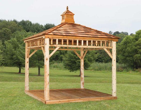 Square Cedar Log Gazebo Design Ideas Modern Gazebo Diy Gazebo Gazebo