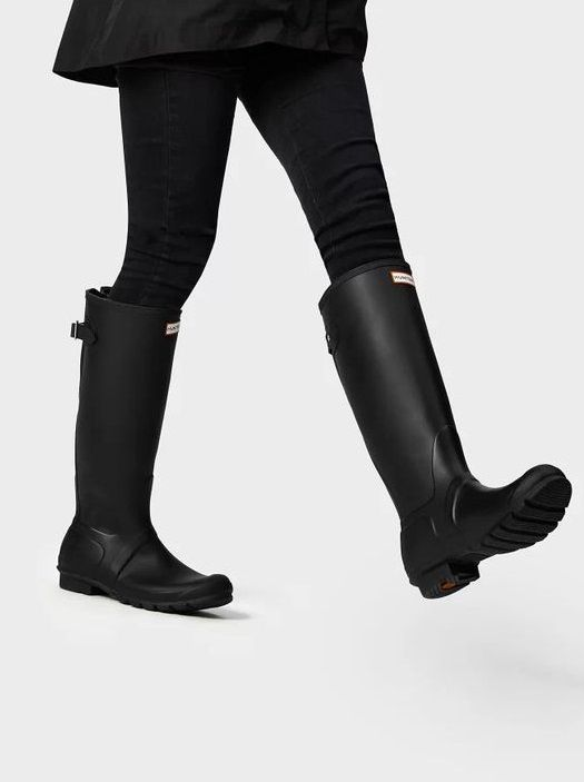 Wide calf rain boots, Hunter boots