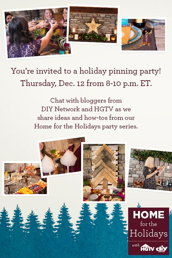 You're invited! Meet the DIYers who put together our Home for the Holidays series and get inspiration for your own party.: