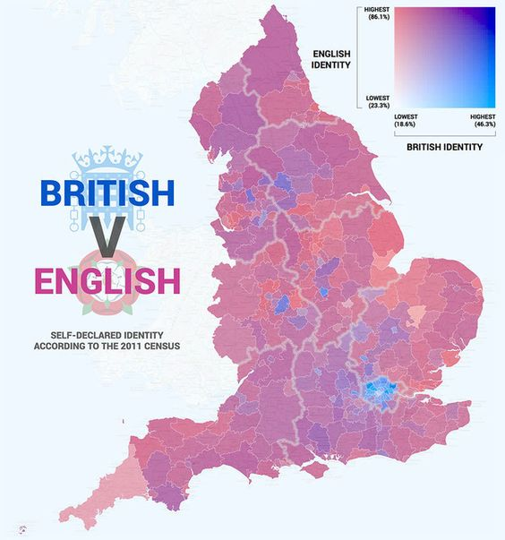 Where people feel English or British. | 21 Maps That Will Change How You Think About Britain