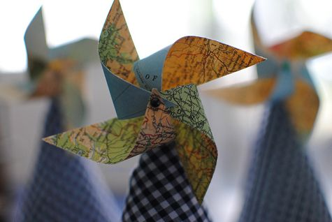 pinwheel party hats