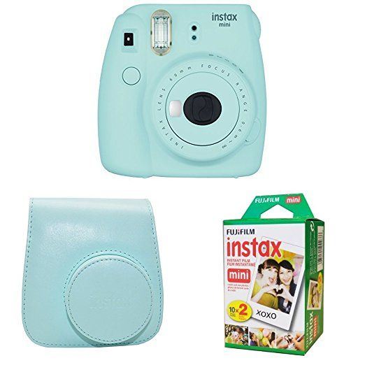 Amazon Com Fujifilm Instax Mini 9 Ice Blue Instant Camera