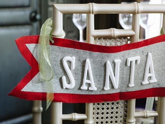 Add a handmade touch to holiday gatherings with one-of-a-kind chair swags.