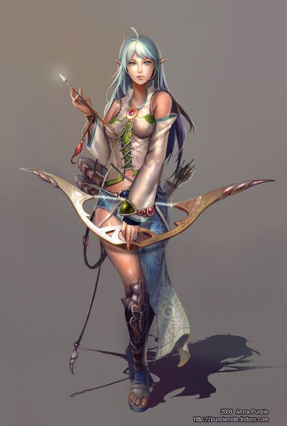 Myo Picture (2d, EJEMPLO, caracter, arquero, niña, hembra, mujer, fantasía, duende)