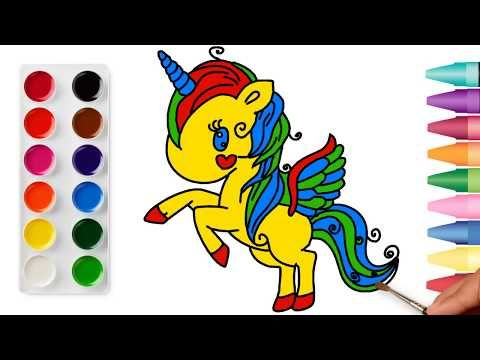 Unicorn Unicorn Coloring Drawing Unicorn Unicorn Coloring Page Colouring رسم وحيد القرن You Unicorn Coloring Pages Floral Border Design Drawing For Kids