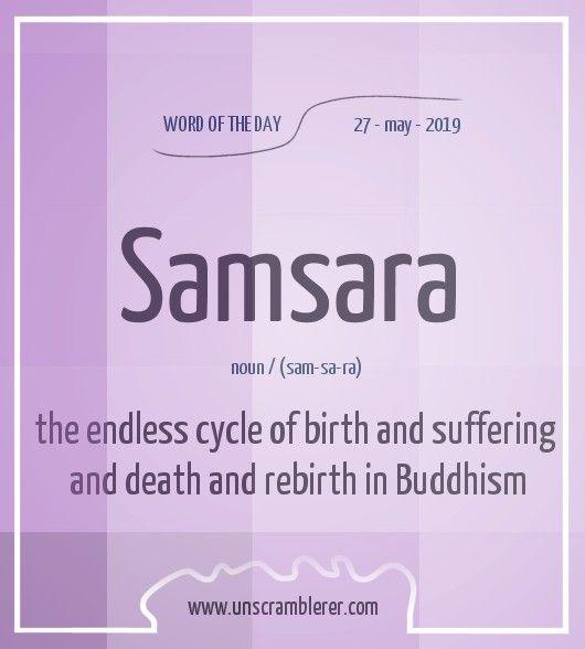 Samsara Words Uncommon Words Writing Words
