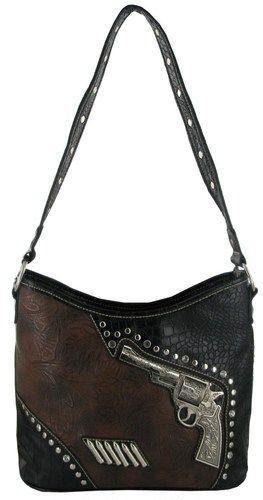 blingy hobo purses | ... Carry Purse Pistol Gun Weapon Western Bling Hobo Handbag Brown | eBay