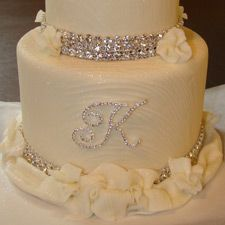 Accessories | Couture Cake Jewelry - Monogram Cake Toppers - Weddings, Anniversaries, Parties, Events