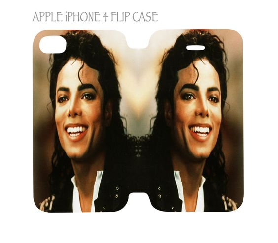iPhone 4 / 4s Flip Case Cover Michael Jackson King Of Pop Best Smile #QuinnCafe