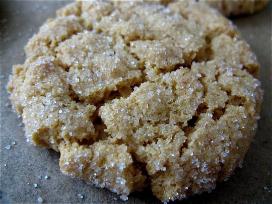 no flour no butter peanut butter cookies-- i might try almond butter!