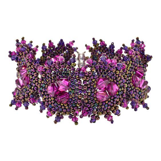Pansy Posy Bracelet Kit by FusionBeads.com®: