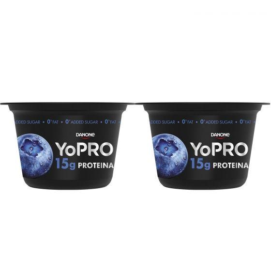 Yogur Desnatado De Arandanos Alto En Proteinas Danone Yopro Pack