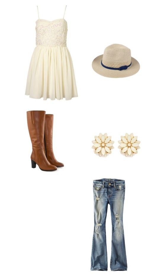 """Untitled #1"" by borntosing44 on Polyvore featuring American Eagle Outfitters, Topshop, Jilsen Quality Boots and Forever 21"